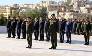 King Attends Burial of Jordanian Martyr in Battle for Jerusalem