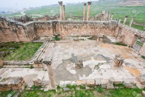12828727-ruin-of-christian-church-in-antique-town-jerash-jordan